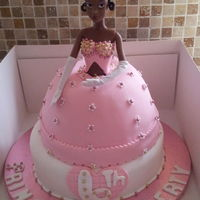 Princess Cake - chocolate marble cake covered with foundant