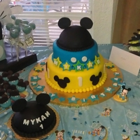 Mickey 1St Birthday cake and smashing cake