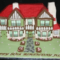 Tudor Doll's House Birthday Cake