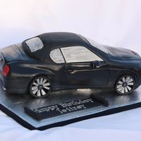 Bentley Continental Supersports Convertible Car Cake Please visit my page: www.facebook.com/xoxoxCelebrationCakes Made to scale, just about! Everything was handmade out of sugarpaste icing....