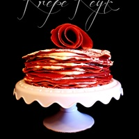 Red Velvet Buttercreme Cheese Crepe Cake Red Velvet Buttercreme cheese Crepe Cake