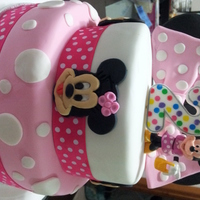 Minnie Mouse Cupcake Tower  I made this cake for my niece's 2nd birthday which was Minnie Mouse themed. This was my first attempt at making a 2 tiered cake and...