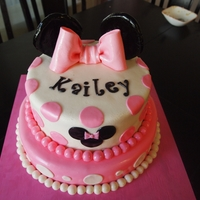 Minnie Mouse Cake Gumpaste bow and Ears... everything else is MMF. Thanks for looking! :)
