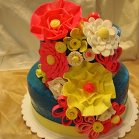 Whimsical Flower Cake