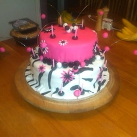 Zebra And Hot Pink Birthday Cake This is a great cake for a teenage girl