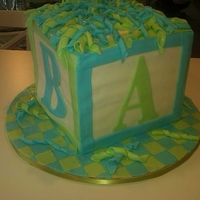 Block Baby Shower Cake For A Boy