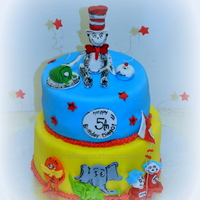 Dr. Seuss Cake Cat in the Hat, Horton, the lorax, thing 1 & 2