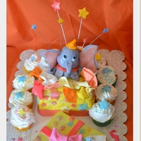Dumbo Inspired Cake Dumbo cake :) all edible
