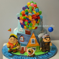 Up Inspired Cake Fondant Characters ''UP'' inspired cake. Fondant characters :)