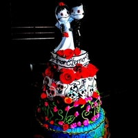 Dia De Los Muertos Anniversary Cake Day of the dead cake