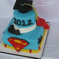 Superman Lover Graduation Cake