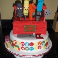 Handy Manny Cake   My son's first birthday cake