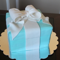 Tiffany Box Engagement Cake Tiffany box engagement cake.