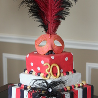 Carnaval Birthday Cake Edible Carnaval Mask Carnaval Birthday cake.Edible carnaval mask.