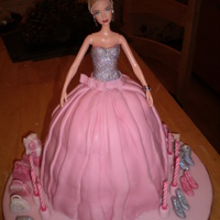 Barbie barbie cake with edible shoes and bags