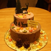 Hunting Themed Birthday Cake This was a hunting themed birthday cake for my husband.