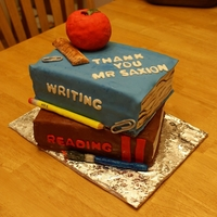 Teacher Appreciation Cake This is my first book cake. I made it for my daughter's first grade teacher.