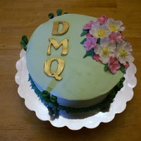 Dmq Graduation Cake This is a cake for a group graduation with a degree in Doctor of Medical Qigong Therapy. It is a white almond sour cream cake with mint...