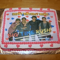 Big Time Rush Birthday Cake Big Time Rush Birthday Cake