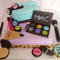 M.a.c Birthday Cake all fondant decorating :)
