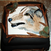 Painted Coyote Cake hand painted :)