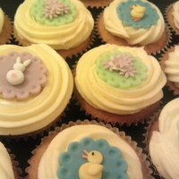 Easter Cupcakes  Vanilla cupcakes with a buttercream 'rose' swirl and fondant toppers. Took these into work last week, and they went so quickly I...