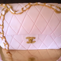 Designer?s Bag I was very happy to be able to achieve the chain handle by only using fondant. I have seen many similar cakes and usualy they have a real...