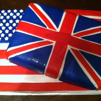 Usagreat Britian Flag Wedding Cake USA/Great Britian Flag Wedding Cake
