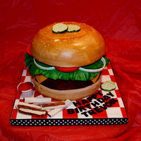 Hamburger Cake Hamburger cake