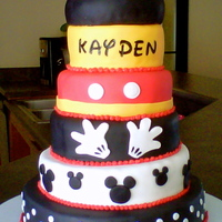 Mickey Mouse Cake 6 Layer Mickey Mouse cake. 6 layer