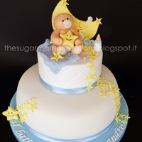 Baptism Cake Inspired to Sogni di Zucchero's bears figurines