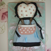 """i Love To Bake"" Vintage Apron Cake Cake made for a fellow cakey friends birthday. Sent it through the post as a wee surprise."
