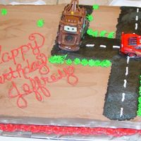 Another Lightening Mcqueen Cake