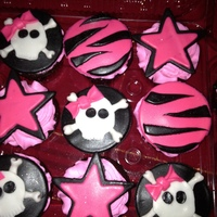 Punk Girl Cupcakes For Birthday Punk girl cupcakes for birthday
