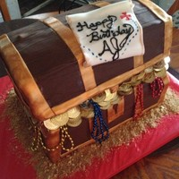Treasure Chest Birthday Cake For A Pirate Birthday Treasure chest birthday cake for a pirate birthday!