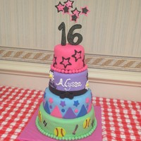 Sweet 16 Cake For An Eclectic 16 Year Old sweet 16 cake for an eclectic 16 year old!