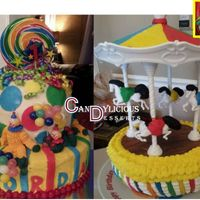 Carnival First Birthday Buttercream - Fondant Accents
