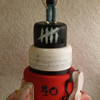 Embrace Themed Birthday Cake This cake was made for my lovely brother on his 40th birthday.It is based on his favourite band Embrace and features a sugar face mask and...
