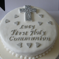 First Communion Cake the first cake of this type I have made and the first i have sold
