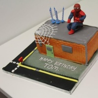 Spider-Man Spider-Man cake for the little who shared the party with my daughter.
