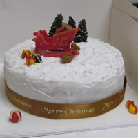 Entirely Edible Including The 3D Sleigh This Was My First Attempt With Royal Icing Entirely edible. Including the 3d sleigh. This was my first attempt with royal icing.
