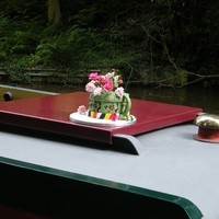 Narrow Boat Jug  In the UK we have alot of narrow boats (or barges) and many are decorated with hand painted tin jugs and other items in this very...