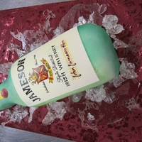 Jameson Bottle Jameson Whiskey Bottle Made of of chocolate cake and thinly rolled fondant. Label was painted on with food coloring. Also, airbrushed to...