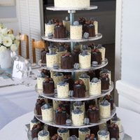 Mini Cakes Wedding Cake These mini cakes were made from vanilla and chocolate cake and filled with caramel condensed milk, a favorite in South Africa. It was...