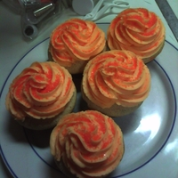 Rum Spice Cupcakes With Orange Cream Cheese Frosting I was just wanting to try this new recipe I had for Orange Cream Cheese Icing and decided on Rum Spice Cake.......Mmmmmmmm!