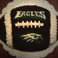 Eagles Birthday Cake This was my first football cake ever. I did this for my husband's 37th birthday! Go Eagles!