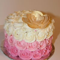 Ombre Cake With Wafter Paper Flower Ombre cake with wafter paper flower.