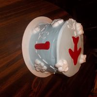 Airplane 1St Birthday Vanilla cake with wilton whipped icing. Fondant accent.