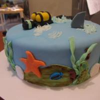 Birthday Cakes Scuba Diving cake for an avid scuba diver's Birthday. Chocolate and vanilla with buttercream filling :)