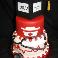 Nursing School Graduation Cake The client asked for a fun cake for her best friend's graduation from nursing school.